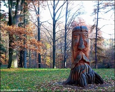 """CARVED STUMP1"", Czech Paradise, Czech Republic."