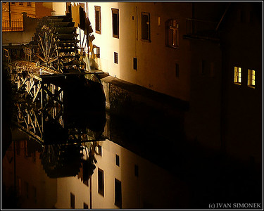 """OLD WATER WHEEL"", Prague, Czech Republic."
