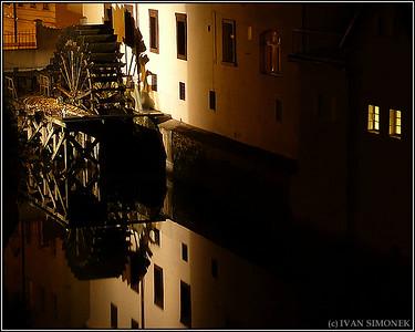 """OLD WATER WHEEL"", Prague, Czech Republic."