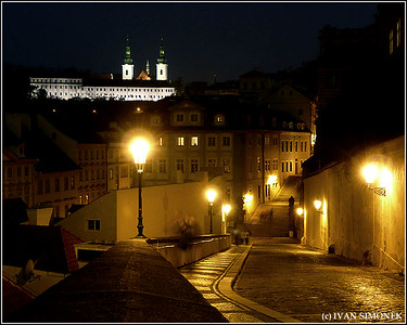 """NIGHT MOVES"",  Loreta church(upper left),Prague, Czech Republic."