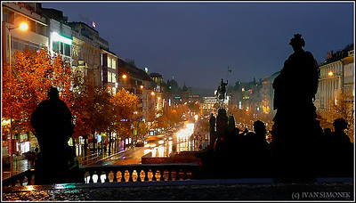 """WENCESLAS SQUARE"", Prague, Czech Republic."