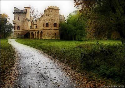"""JANOHRAD"",built in 1808 as a ruin,Czech Republic."