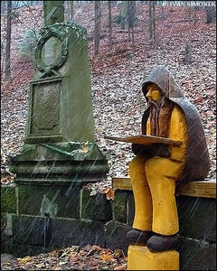 """AVID READER"",Czech Paradise area,Czech Republic."