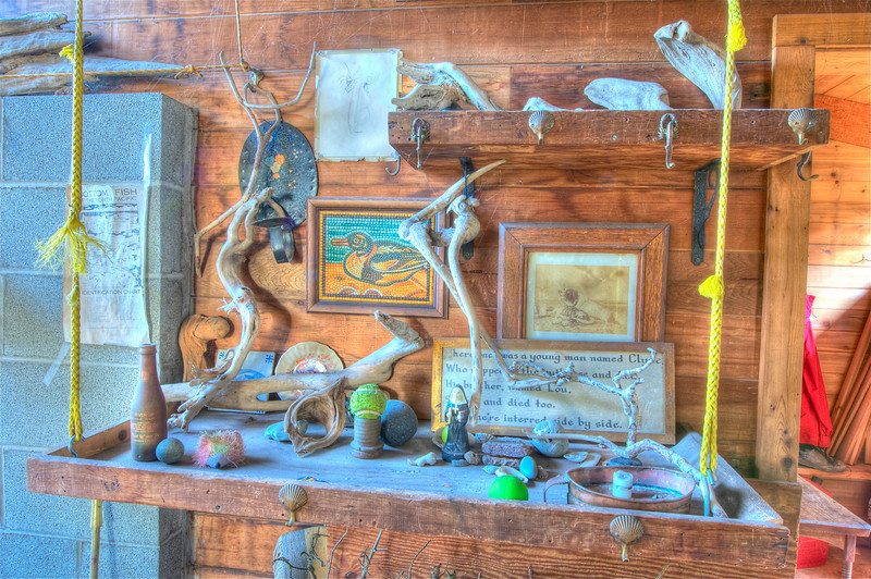 Cabin Collage of Beach Artifacts