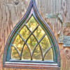 Church Window in outhouse
