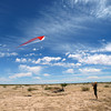 Cordelia flies a ghost kite in Funlandia