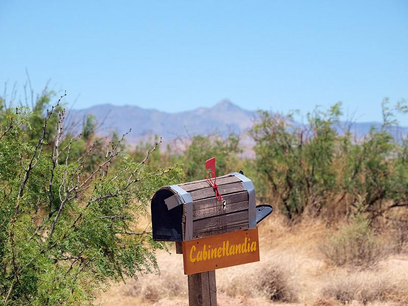 Cabinetlandia Mailbox showing temporary gaffer tape repair