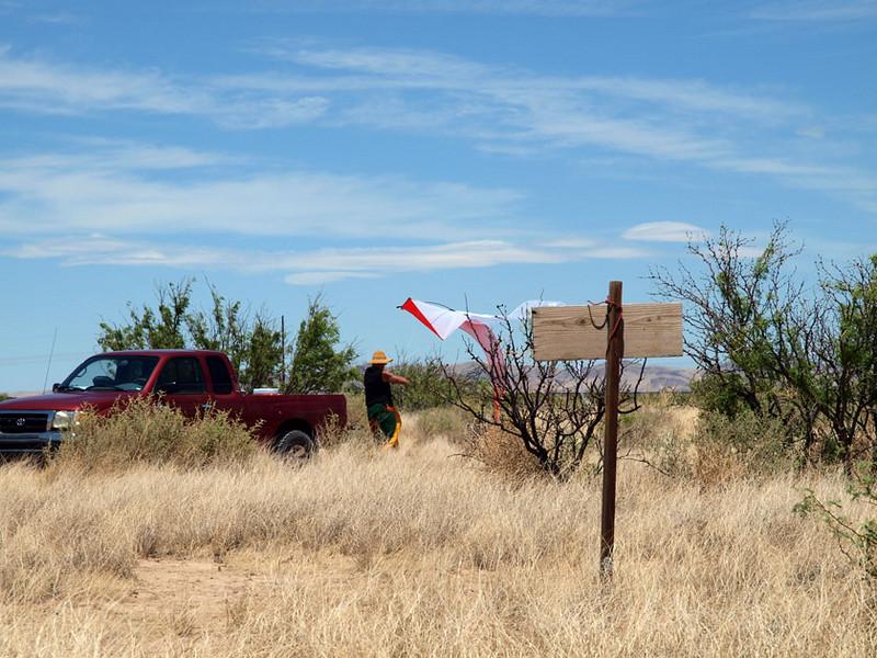 Cordelia flies a ghost kite in Funlandia