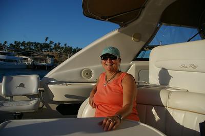 Mom enjoying a boat ride