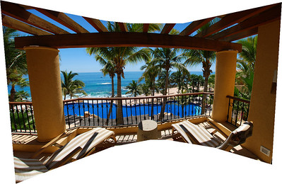 Our balcony at Fiesta Americana Hotel and Resort, Cabo San Lucas Mexico