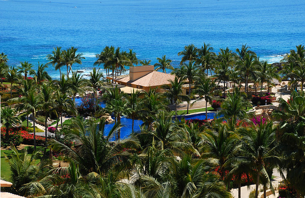 Fiesta Americana Hotel and Resort, Cabo San Lucas Mexico... Pool complex.
