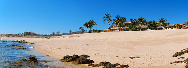 Looking back at the resort from the shoreline lagoon at Fiesta Americana Hotel and Resort, Cabo San Lucas Mexico