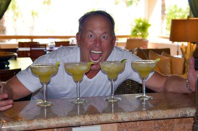Sandy celebrating his really really really good Margaritas!