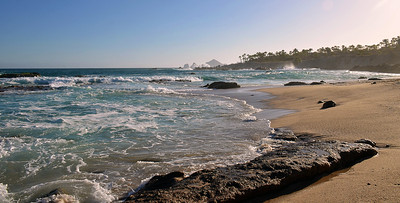 View from the beach of Esperanza at Cabo San Lucas.