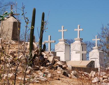 Cemetery near Calendaria Mexico.