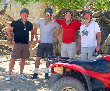 L-R, Sandy Hamilton, Ryan Korczykowski, Kevin Hamilton, and yours truly.  Mexico Desert!