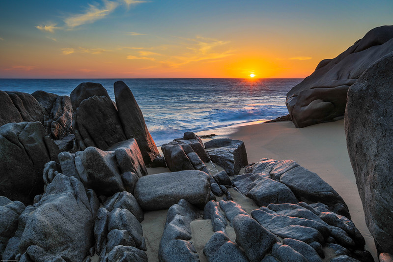 troy beach sunset