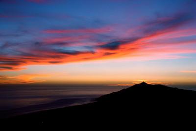 Twilight over lighthouse