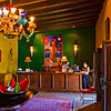 Colorful lobby of the Hotel California.
