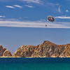 Parasailing above the Sea of Cortez.