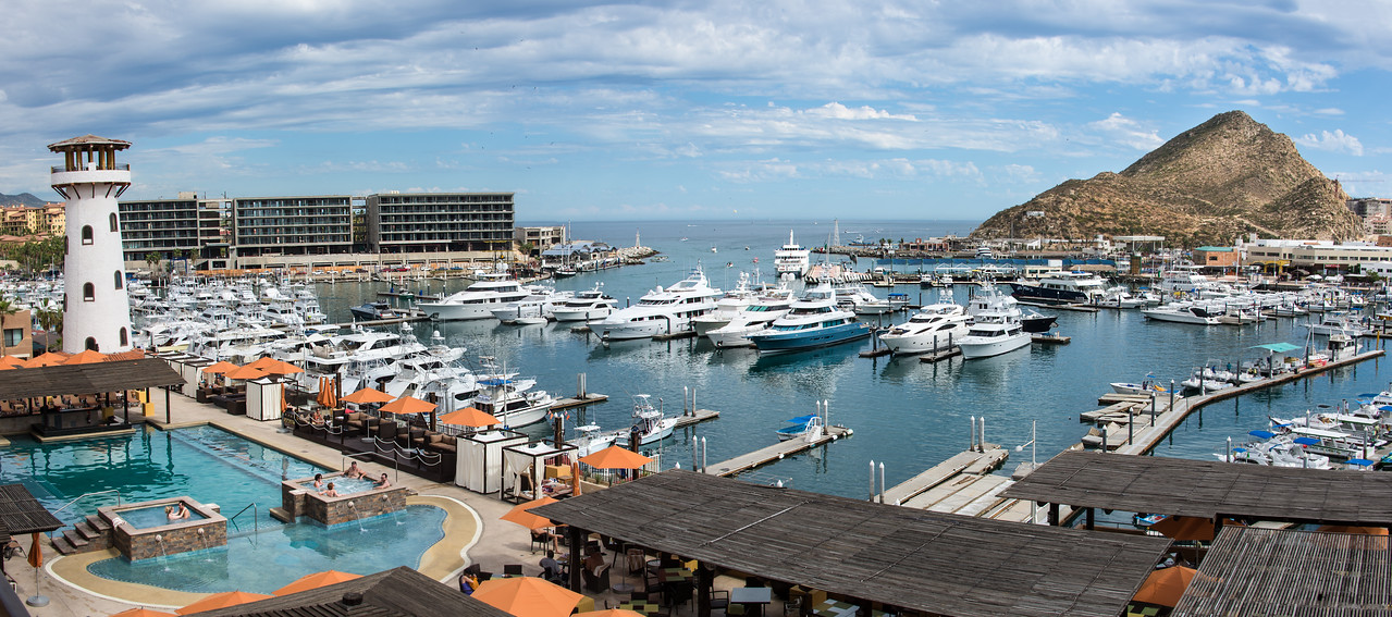 View from my balcony at Wyndham Cabo San Lucas Resort - January 2015