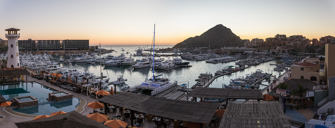 Morning view from balcony at Wyndham Cabo San Lucas Resort - January 2015
