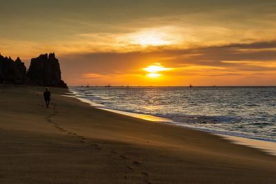 Sunrise Walk on the Beach
