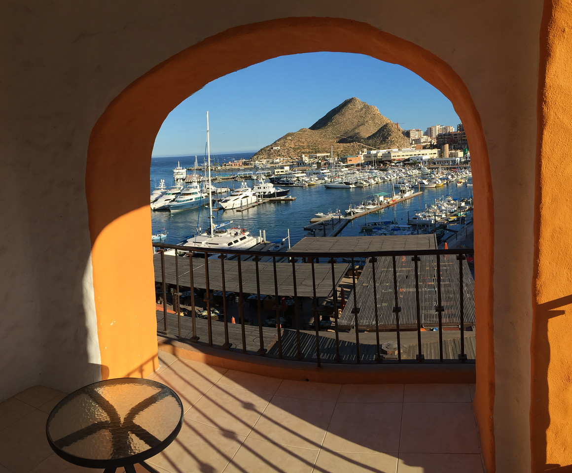 View from my balcony at Wyndham Cabo San Lucas Resort - January 2015 (iPhone image)