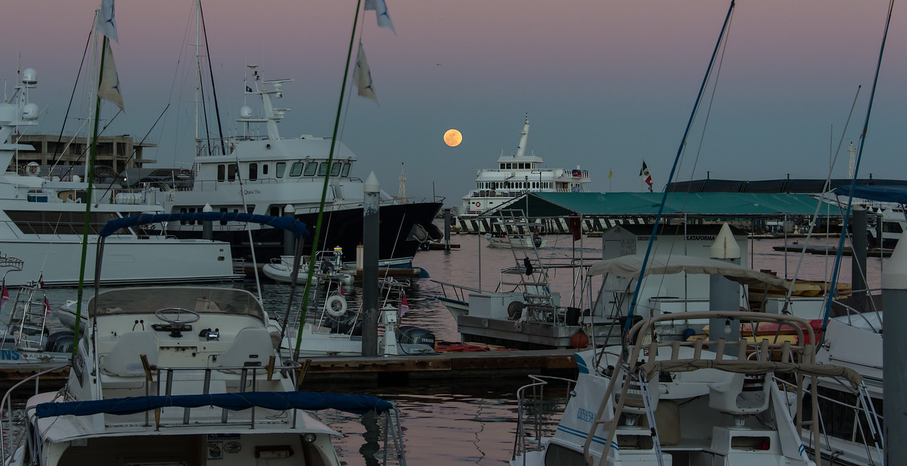 Evening view from docks at Cabo San Lucas - January 2015
