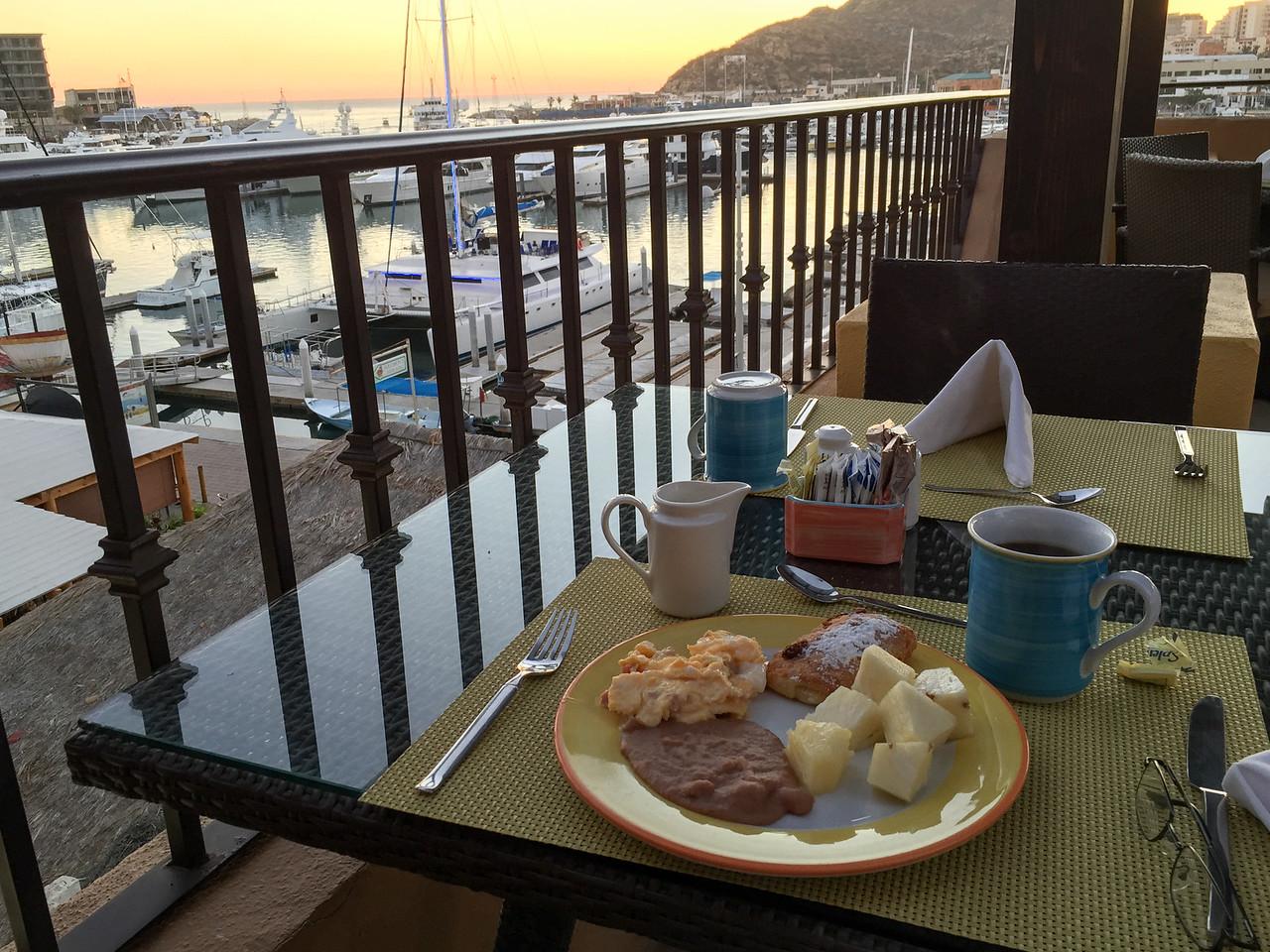 Breakfast at Wyndham Cabo San Lucas Resort - January 2015 (iPhone image)