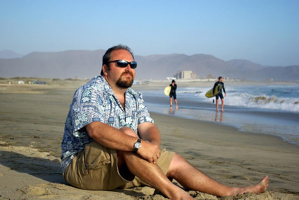 Greg Vogel, Male Model...<br /> <br /> seriously though, my wife took my picture near sunset on Los Cerritos beach near Cabo San Lucas Mexico.