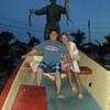 Fisherman statue at Medano Beach