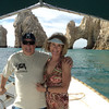 """Eunice & I at the """"Arch"""" at Lands End, Los Cabos"""