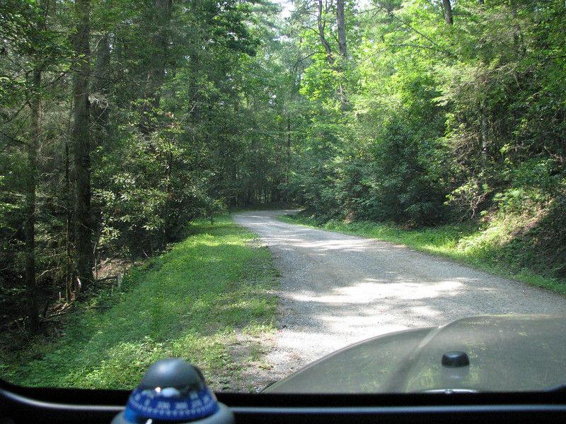 Typical mountain road thru Cades Cove, Tenn.