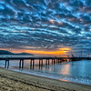 Sunrise over the Palm Cove Pier, Queensland .