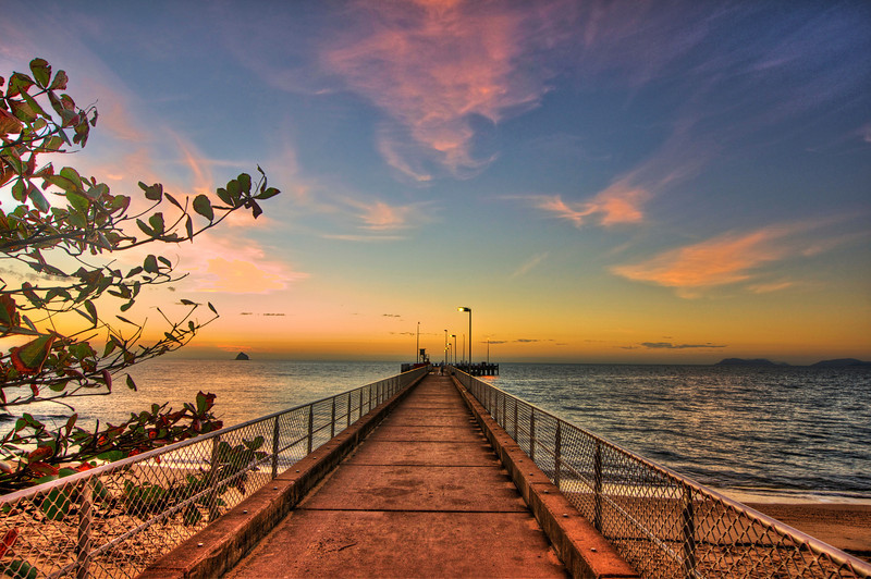 Palm Cove pier at sunset: Queensland , Australia