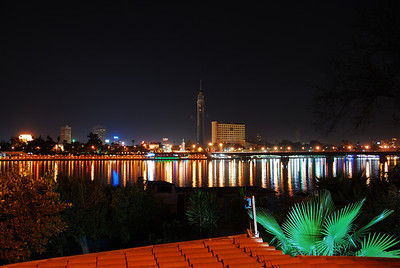 Colin's amazing shot of the Nile.  The bright light on the left is the roof of the Cairo Opera House.