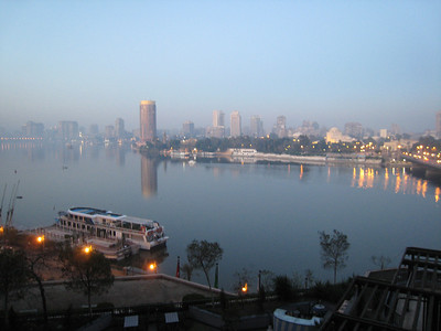 The view from our hotel room over the Nile.