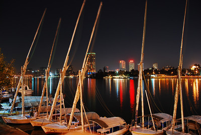 Another gem by Colin - felucas on the Nile at night.