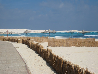 On the coast at the El Alamein hotel.  The sea was the most amazing azure blue colour,
