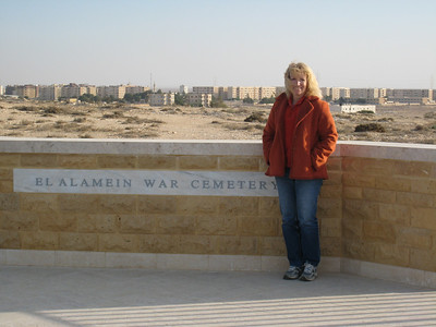 At the entrance to the Commonwealth section of the El Alamein war cemetery.