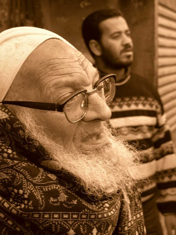 Man in the Khan el-Khalili Market.