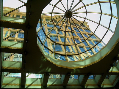 "Skylight at the ""First Mall"" owned by the Saudi business tycoon prince Alwaleed bin Talal."