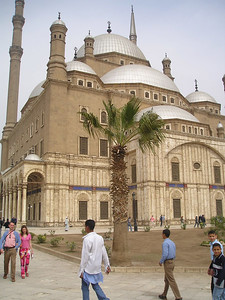 Mohamed Ali mosque in Cairo, sometimes referred to as the Alibaster Mosque because of the use of that type of stone on some of the lower outside walls.