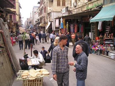 Street scene in the Khan al Khalili.
