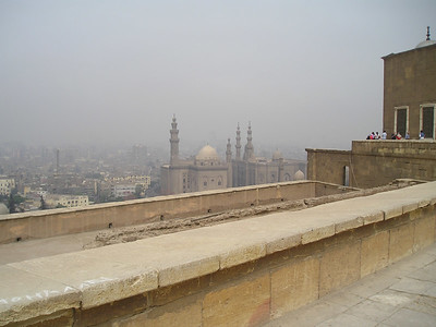 View of the smog over Cairo, taken from the Citadel.