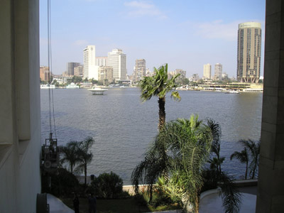 View of the Nile from the Hyatt.