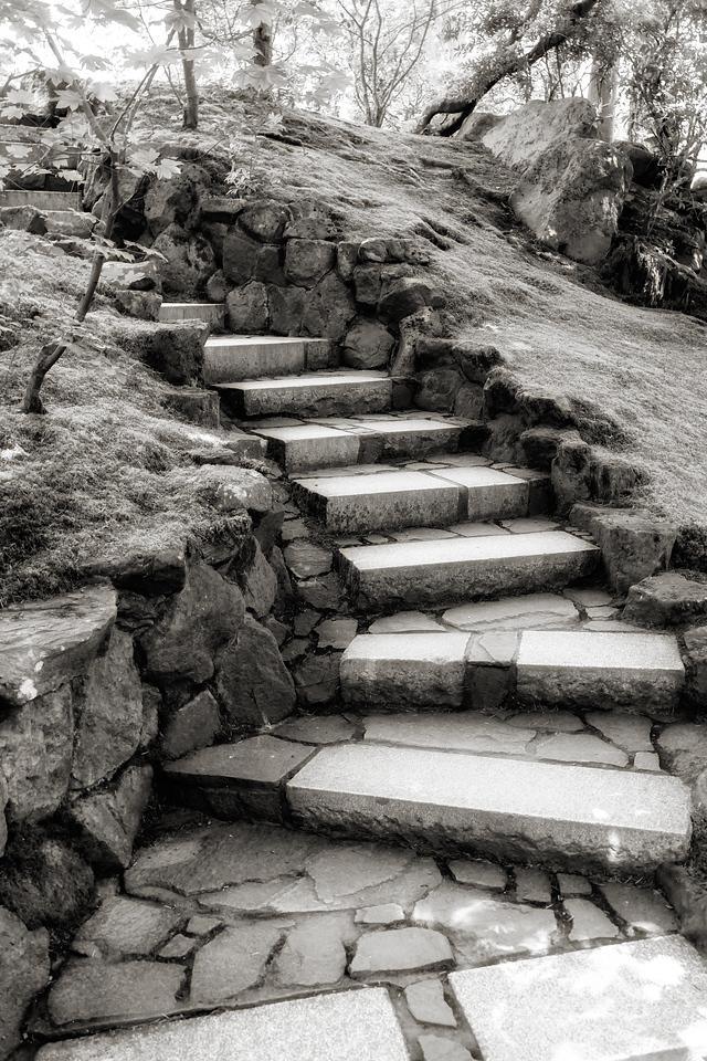 Steps of Amon Hen, breaking of the Fellowship - Japanese Garden, Portland