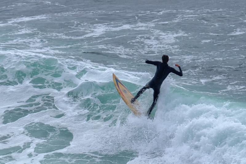 Surfer at Santa Cruz