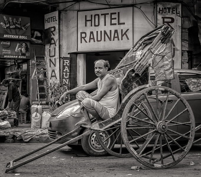 Richshaw puller in Calcutta